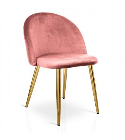SOUL ŁOSOSIOWY krzesło tapicerowane velvet