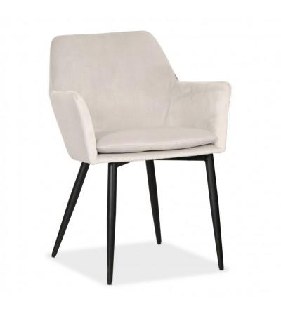 VIKTOR SZARE krzesło tapicerowane VELVET