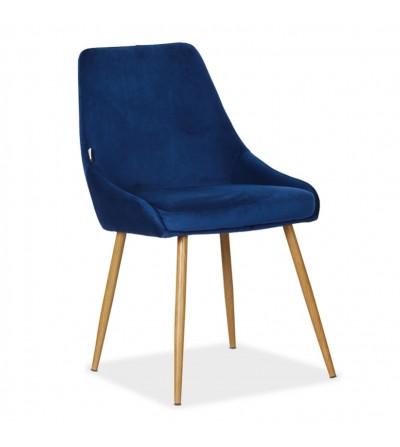 RINO GRANATOWE tapicerowane krzesło velvet