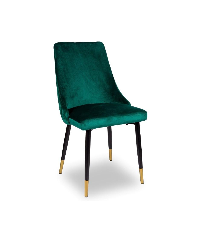 OSCAR ZIELONE krzesło tapicerowane velvet