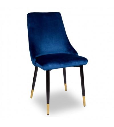 OSCAR GRANATOWE krzesło tapicerowane velvet