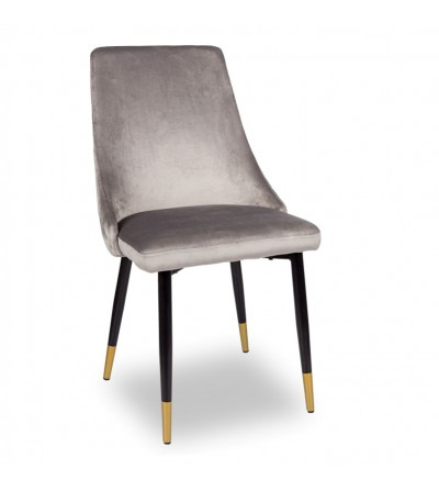 OSCAR SZARY krzesło tapicerowane velvet