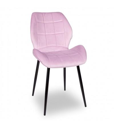 RICO RÓŻOWE krzesło tapicerowane VELVET