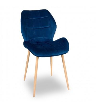 RICO GRANATOWE krzesło tapicerowane VELVET