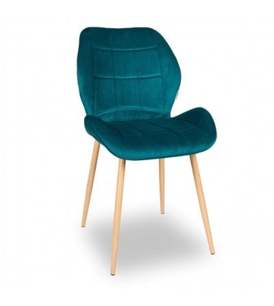 RICO TURKUSOWE krzesło tapicerowane VELVET