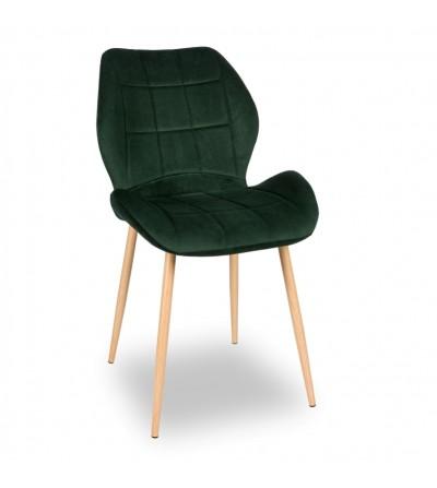 RICO ZIELONE krzesło tapicerowane VELVET