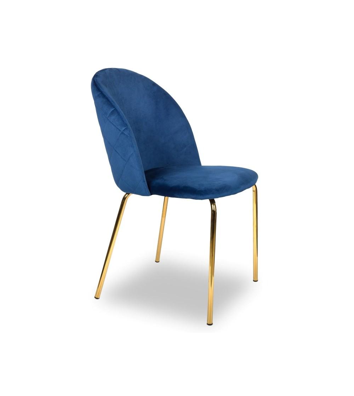 ROSA GRANATOWE krzesło tapicerowane velvet