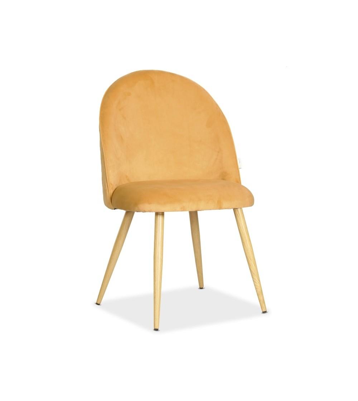 SOUL MAX MUSZTARDOWE krzesło tapicerowane velvet