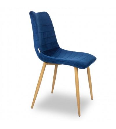 PABLO GRANATOWE krzesło tapicerowane velvet