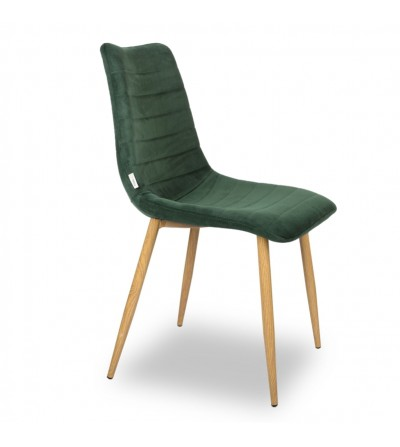 PABLO ZIELONE krzesło tapicerowane velvet