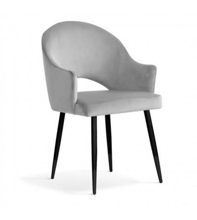 GLORIA SREBRNE krzesło tapicerowane velvet