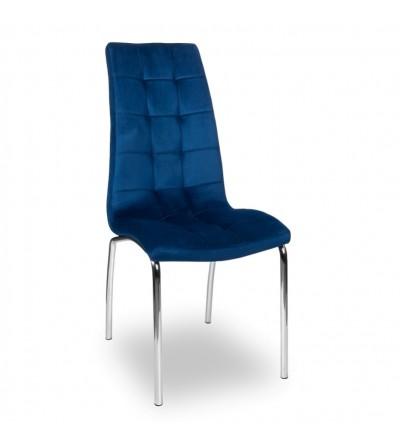 ESTER GRANATOWE tapicerowane krzesło velvet