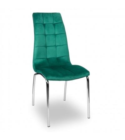 ESTER ZIELONE tapicerowane krzesło velvet