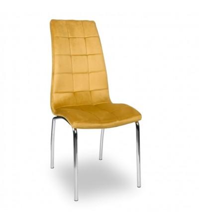 ESTER MUSZTARDOWE tapicerowane krzesło velvet