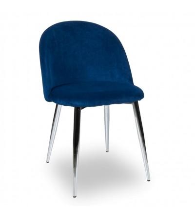 SOUL GRANATOWY krzesło tapicerowane velvet
