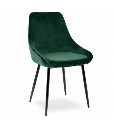 RINO ZIELONE krzesło tapicerowane velvet