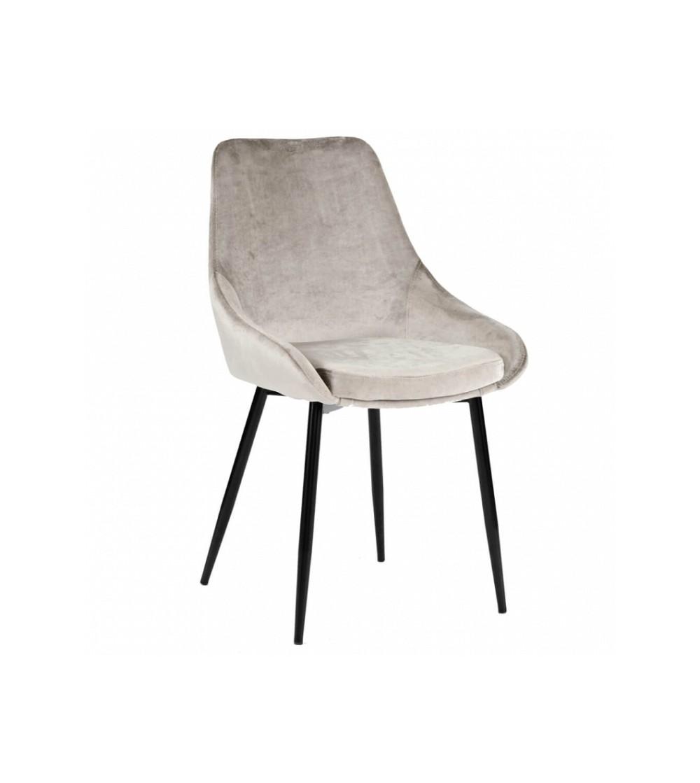 RINO BEŻOWY krzesło tapicerowane velvet