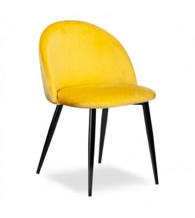 SOUL ŻÓŁTY krzesło tapicerowane velvet
