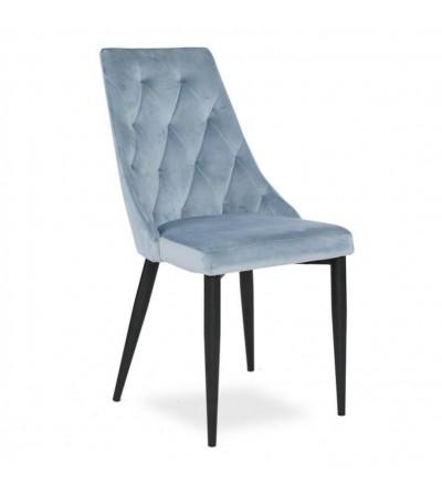 CAREN BŁĘKITNE krzesło tapicerowane velvet