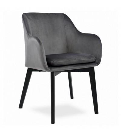 IVO SZARE krzesło tapicerowane velvet