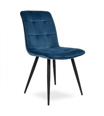 EVAN GRANATOWE krzesło tapicerowane velvet