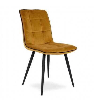 LIVO MUSZTARDOWE krzesło tapicerowane velvet
