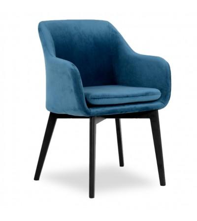IVO GRANATOWE krzesło tapicerowane velvet