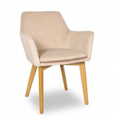 MOSSO BEŻOWE krzesło tapicerowane VELVET