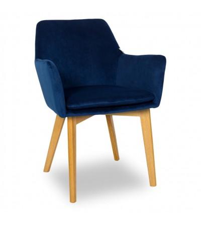 MOSSO GRANATOWE krzesło tapicerowane VELVET