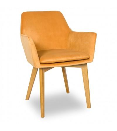MOSSO MUSZTARDOWE krzesło tapicerowane VELVET