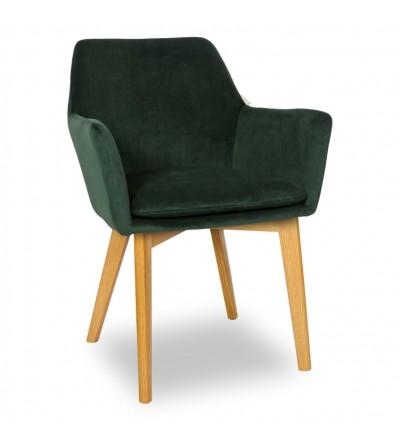 MOSSO ZIELONE krzesło tapicerowane VELVET