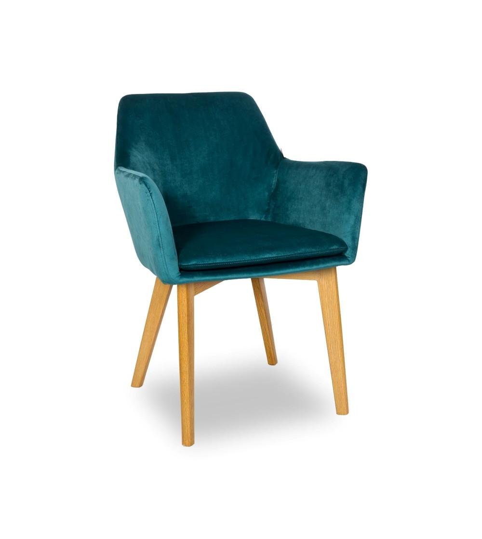 MOSSO TURKUSOWE krzesło tapicerowane VELVET