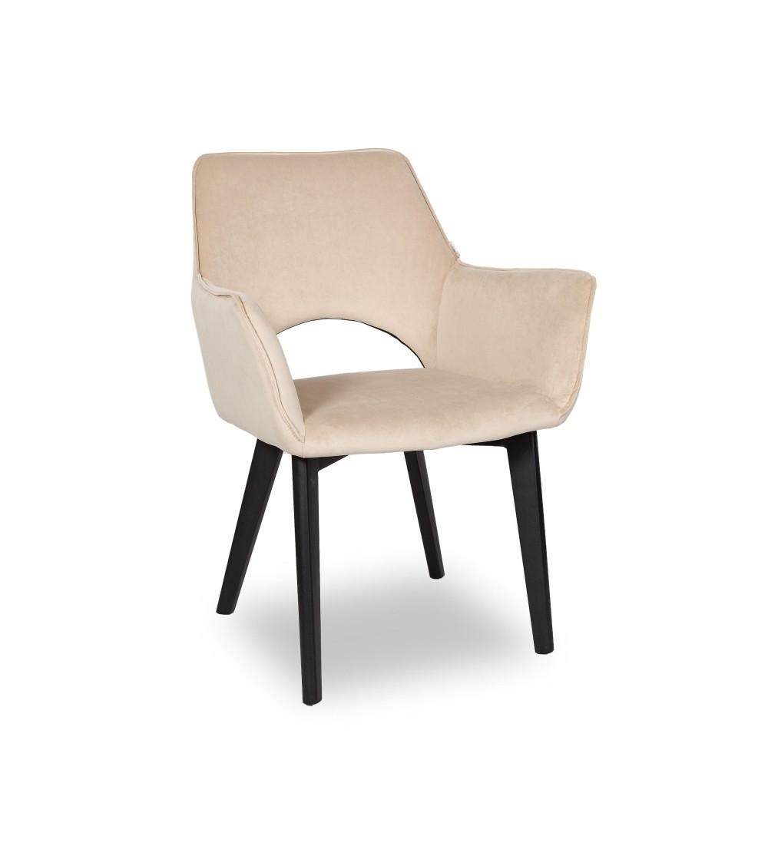 WALTER 2 BEŻOWE krzesło tapicerowane VELVET
