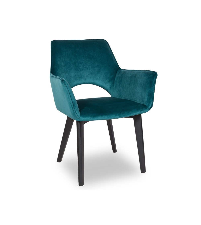 WALTER 2 TURKUSOWE krzesło tapicerowane VELVET