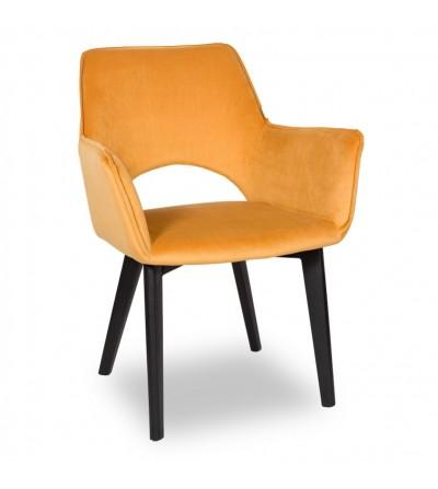 WALTER 2 MUSZATRDOWE krzesło tapicerowane VELVET