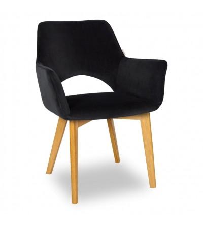 WALTER 2 CZARNE krzesło tapicerowane VELVET