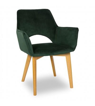 WALTER 2 ZIELONE krzesło tapicerowane VELVET
