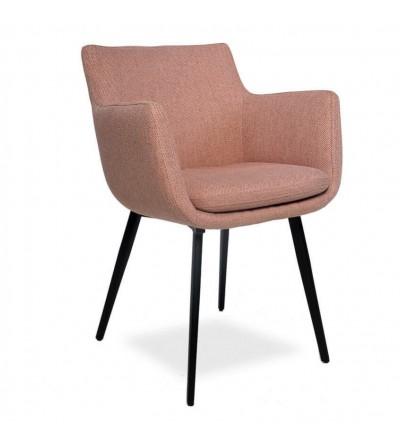 MARTA RÓŻOWE krzesło tapicerowane