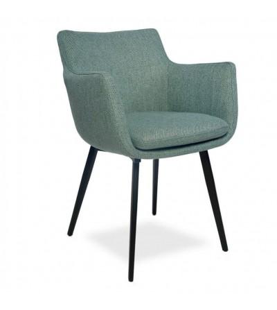 MARTA TURKUSOWY krzesło tapicerowane