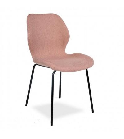 KLARA RÓŻOWE krzesło tapicerowane