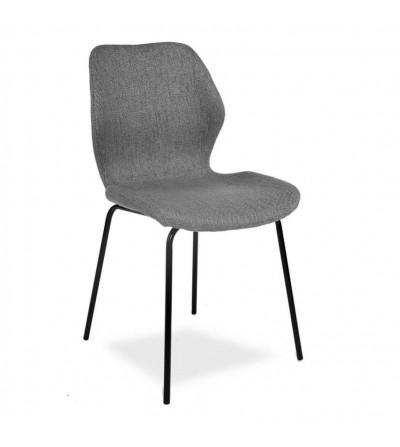 KLARA SZARE krzesło tapicerowane