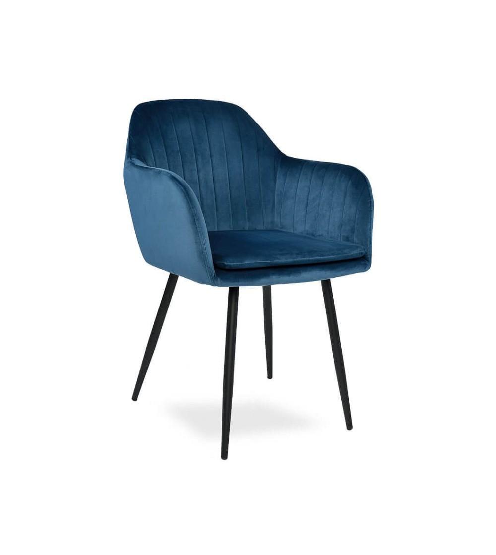 SARA GRANATOWE krzesło tapicerowane velvet