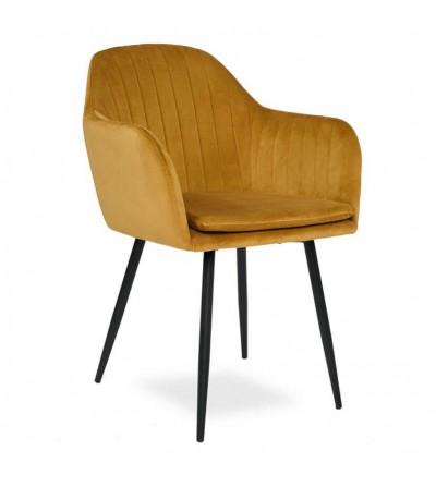 SARA MUSZATRDOWE krzesło tapicerowane velvet