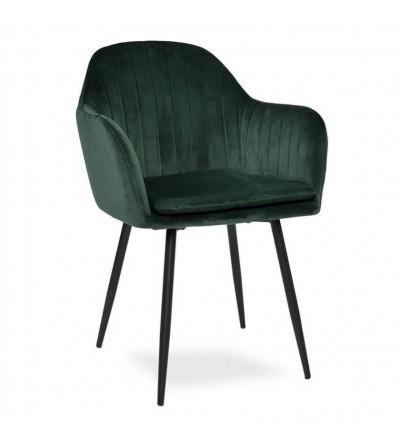 SARA ZIELONE krzesło tapicerowane velvet