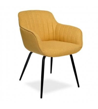 JULIA MUSZTARDOWE krzesło tapicerowane