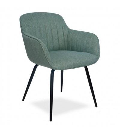 JULIA TURKUSOWE krzesło tapicerowane
