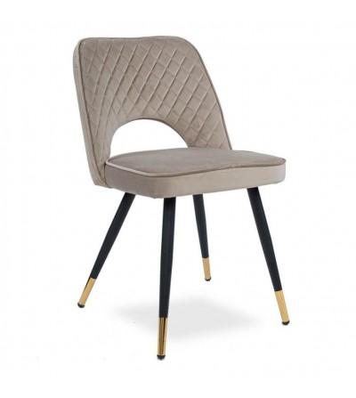 SOFIA BEŻOWE krzesło tapicerowane velvet