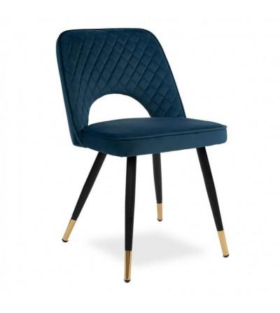 SOFIA GRANATOWE krzesło tapicerowane velvet