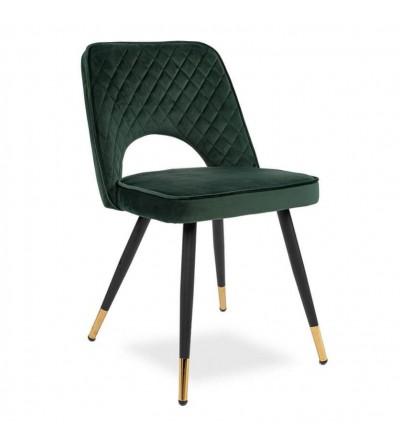 SOFIA ZIELONY krzesło tapicerowane velvet