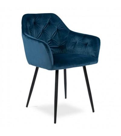 LIZA GRANATOWE krzesło tapicerowane velvet